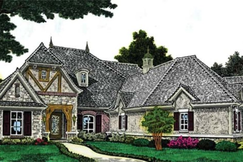 European Exterior - Front Elevation Plan #310-1264