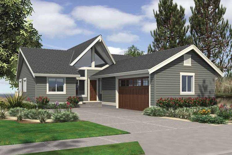 Contemporary Exterior - Front Elevation Plan #132-541 - Houseplans.com