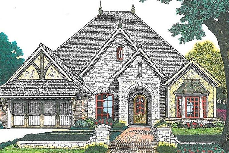 European Exterior - Front Elevation Plan #310-1255 - Houseplans.com