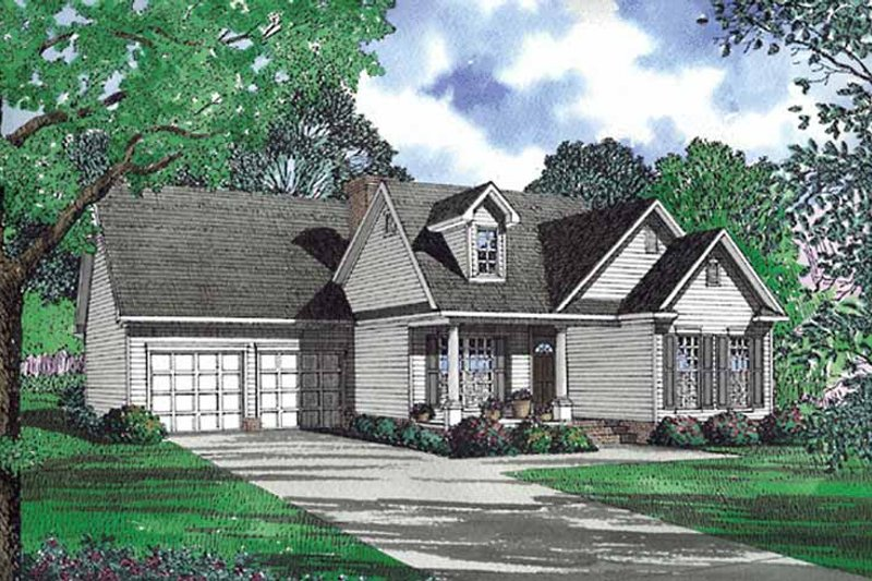 House Plan Design - Country Exterior - Front Elevation Plan #17-3064