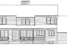 House Blueprint - Country Exterior - Rear Elevation Plan #72-455