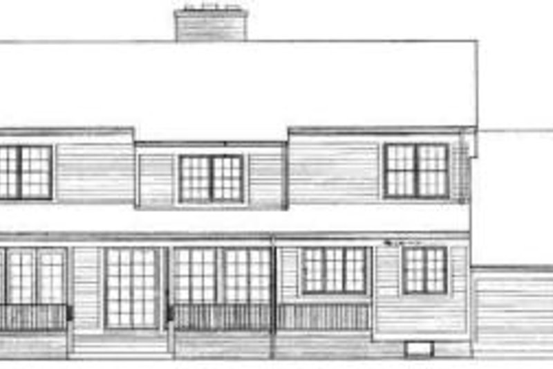 Country Exterior - Rear Elevation Plan #72-455 - Houseplans.com