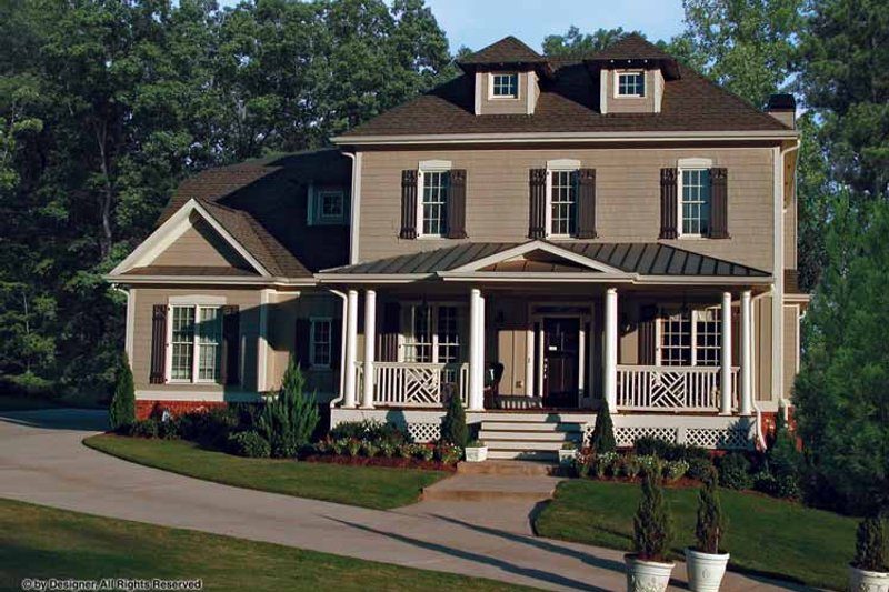 Traditional Exterior - Front Elevation Plan #54-342 - Houseplans.com
