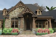 Craftsman Style House Plan - 3 Beds 2 Baths 2466 Sq/Ft Plan #120-246 Exterior - Front Elevation