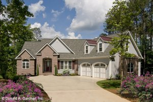 Ranch Exterior - Front Elevation Plan #929-995