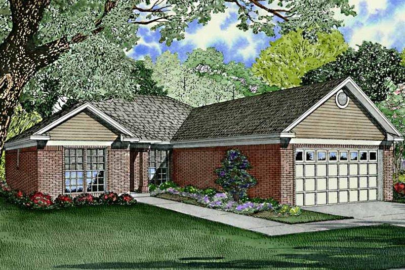 Ranch Exterior - Front Elevation Plan #17-3214 - Houseplans.com