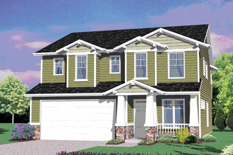 Architectural House Design - Traditional Exterior - Front Elevation Plan #509-229