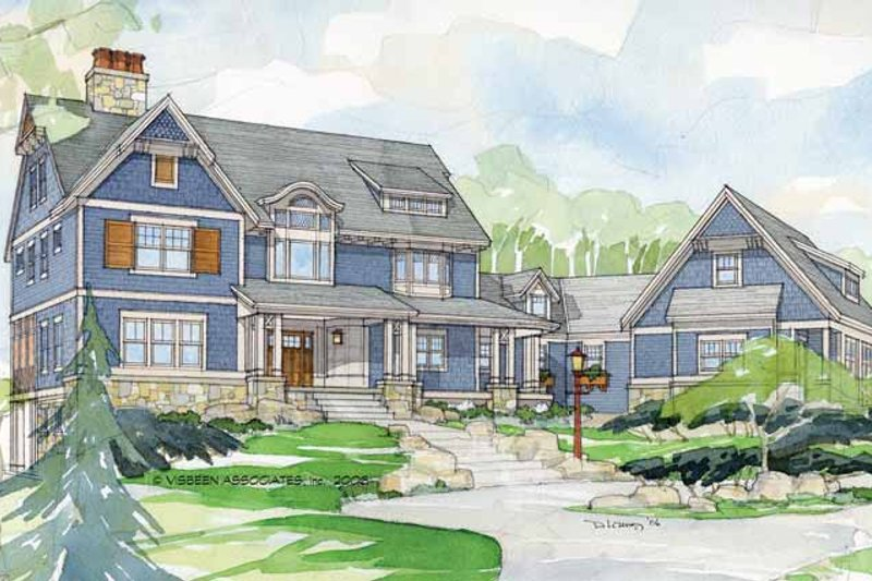 Craftsman Exterior - Front Elevation Plan #928-30 - Houseplans.com