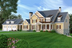 Craftsman Exterior - Front Elevation Plan #419-147 - Houseplans.com