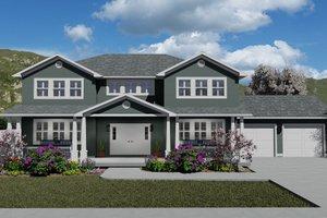House Design - Craftsman Exterior - Front Elevation Plan #1060-55