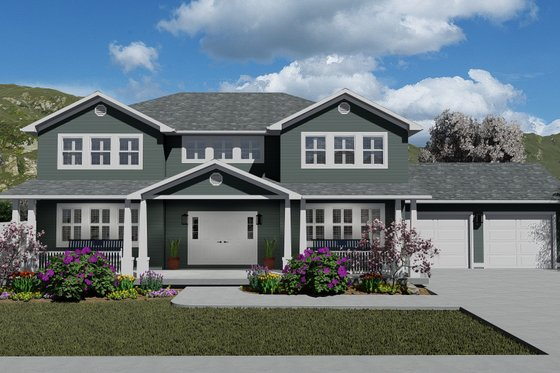 Craftsman Exterior - Front Elevation Plan #1060-55