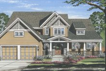 Craftsman Exterior - Front Elevation Plan #46-859