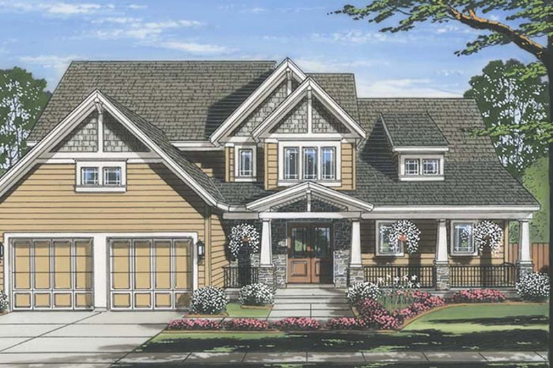 Craftsman Exterior - Front Elevation Plan #46-859 - Houseplans.com