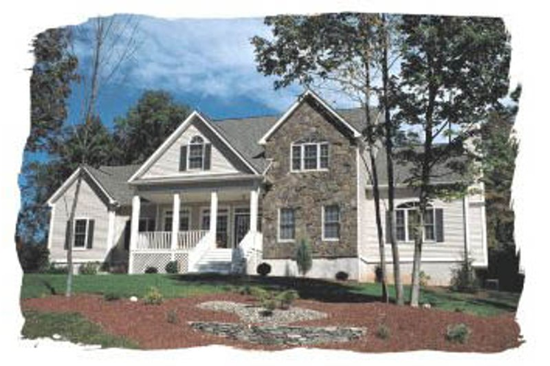 Farmhouse Style House Plan - 4 Beds 3.5 Baths 2715 Sq/Ft Plan #20-253 Exterior - Front Elevation