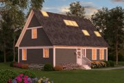 Colonial Style House Plan - 2 Beds 2 Baths 1960 Sq/Ft Plan #903-1 Exterior - Rear Elevation