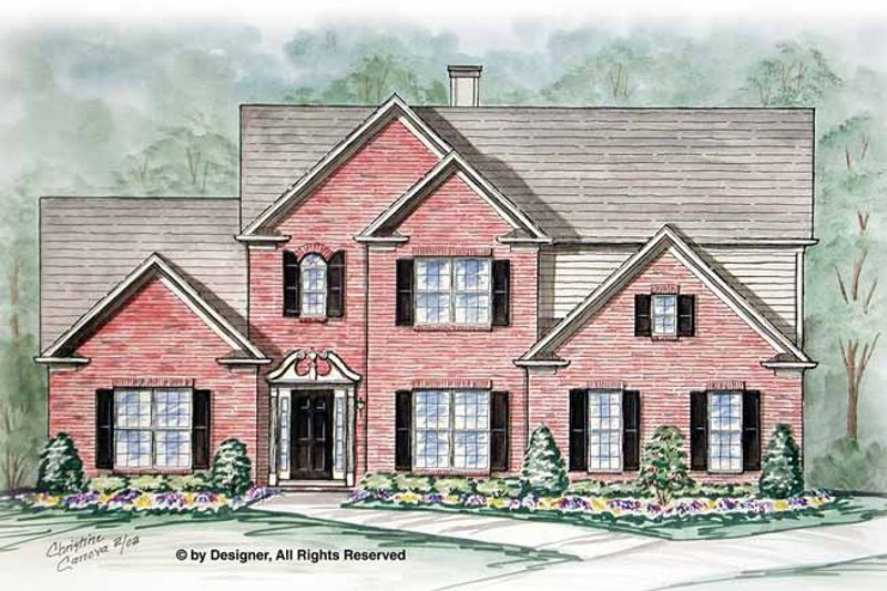 Traditional Exterior - Front Elevation Plan #54-355