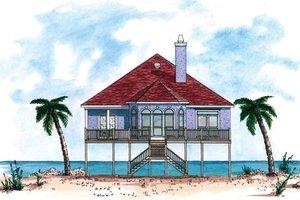 Beach Exterior - Front Elevation Plan #37-144