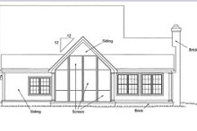 House Plan Design - Country Exterior - Rear Elevation Plan #20-162
