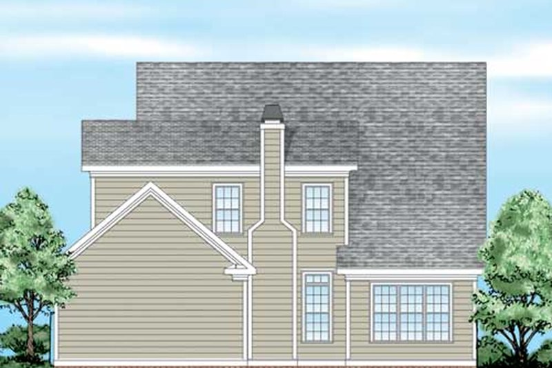 Farmhouse Exterior - Rear Elevation Plan #927-40 - Houseplans.com