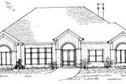 European Style House Plan - 3 Beds 3 Baths 3338 Sq/Ft Plan #325-142 Exterior - Front Elevation