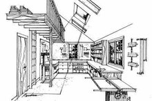House Blueprint - Tudor Exterior - Other Elevation Plan #72-242