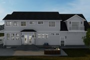 Victorian Style House Plan - 4 Beds 3 Baths 2898 Sq/Ft Plan #1060-51 Exterior - Rear Elevation
