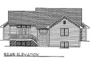 Traditional Style House Plan - 2 Beds 1.5 Baths 1346 Sq/Ft Plan #70-115 Exterior - Rear Elevation