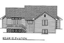 Dream House Plan - Traditional Exterior - Rear Elevation Plan #70-115
