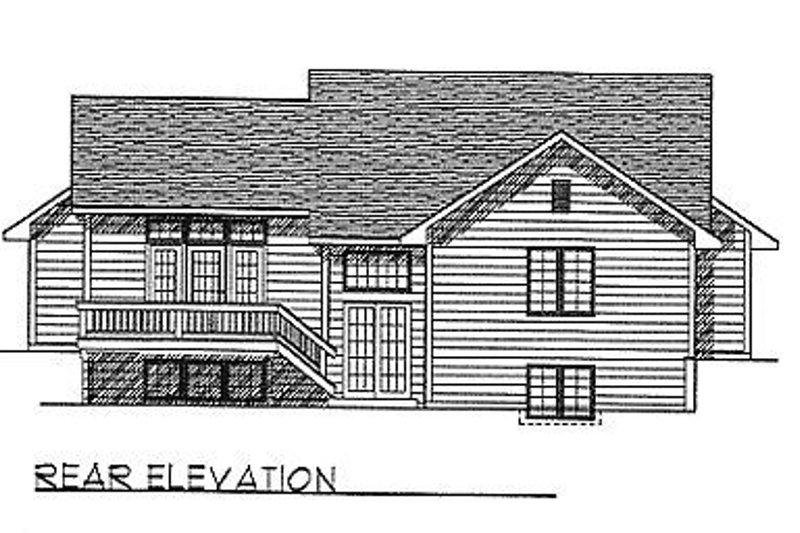 Traditional Exterior - Rear Elevation Plan #70-115 - Houseplans.com