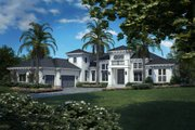 European Style House Plan - 4 Beds 5.5 Baths 7508 Sq/Ft Plan #27-494 Exterior - Front Elevation
