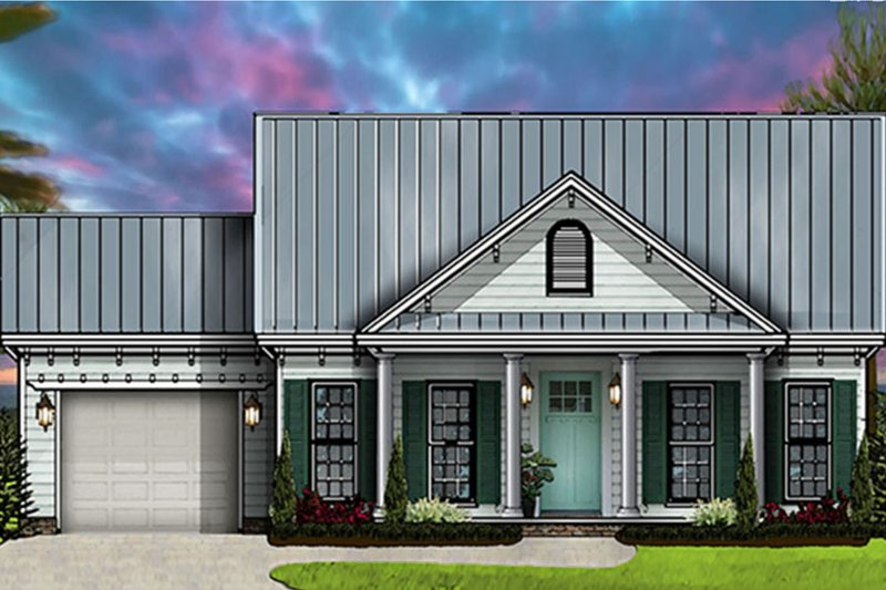 Ranch Exterior - Front Elevation Plan #977-2