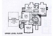 Colonial Style House Plan - 4 Beds 3.5 Baths 4000 Sq/Ft Plan #310-950 Floor Plan - Upper Floor Plan