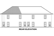 Home Plan - Country Exterior - Rear Elevation Plan #17-3421