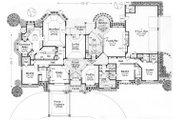 European Style House Plan - 4 Beds 4.5 Baths 4615 Sq/Ft Plan #310-635 Floor Plan - Main Floor Plan