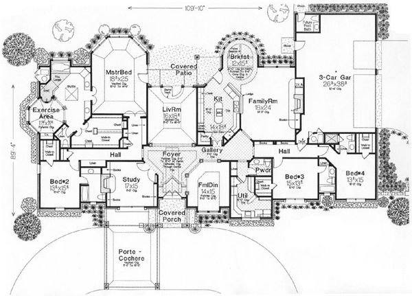 European Floor Plan - Main Floor Plan Plan #310-635