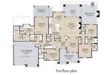 Farmhouse Floor Plan - Main Floor Plan Plan #120-264