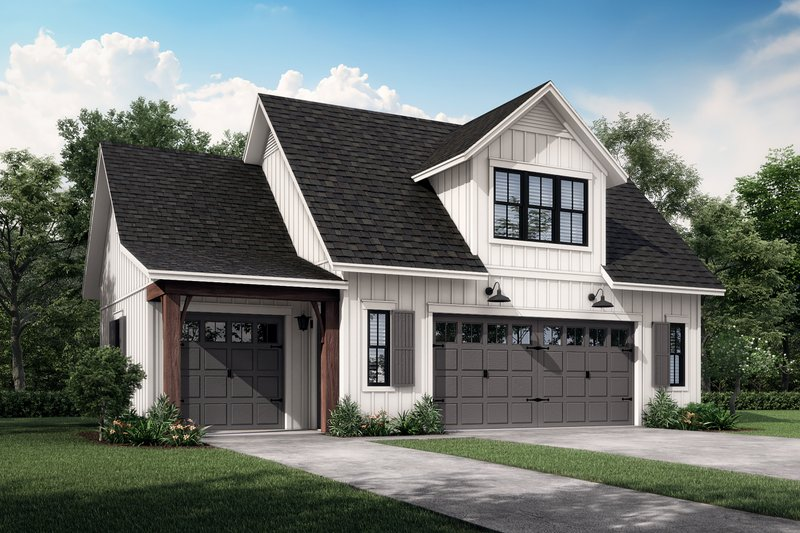 Farmhouse Style House Plan - 1 Beds 1 Baths 522 Sq/Ft Plan #430-237 Exterior - Front Elevation