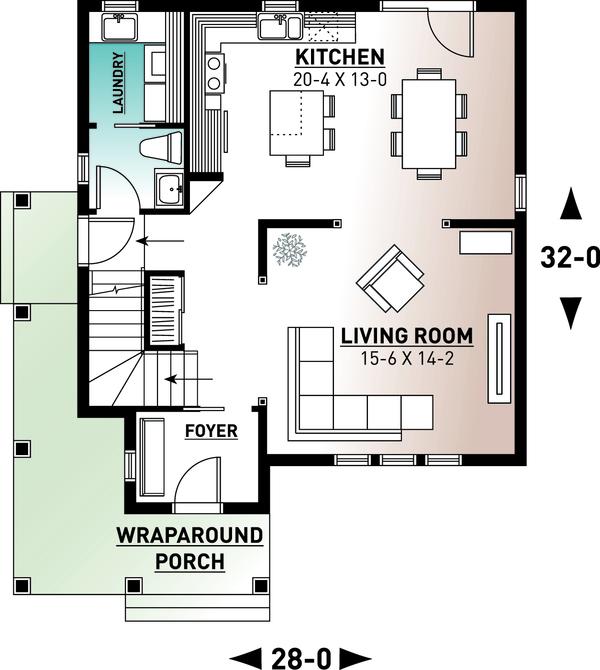 House Plan Design - Country Floor Plan - Main Floor Plan #23-2407