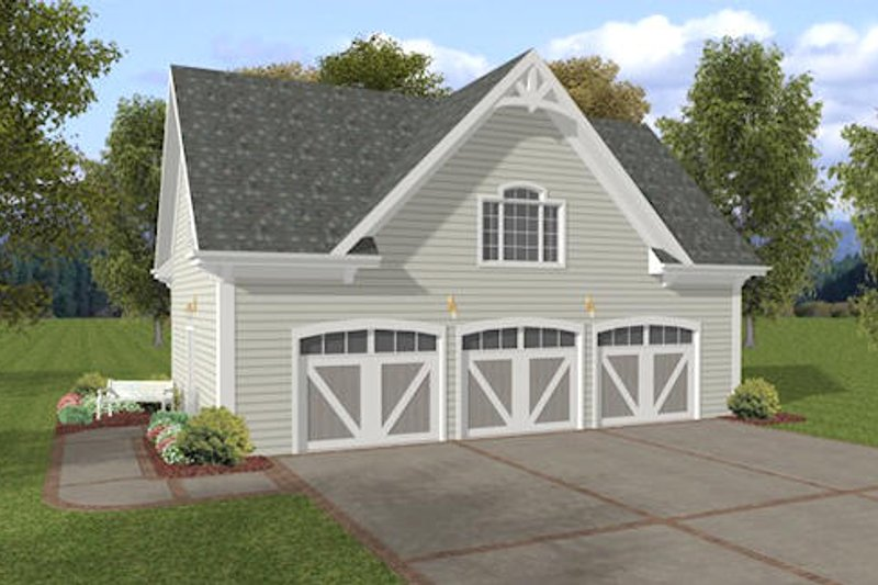 Traditional Style House Plan - 0 Beds 0 Baths 749 Sq/Ft Plan #56-571