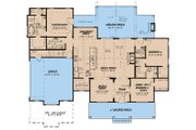 Country Style House Plan - 3 Beds 2.5 Baths 2031 Sq/Ft Plan #923-129 Floor Plan - Main Floor Plan