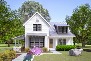 Architectural House Design - Farmhouse Exterior - Front Elevation Plan #1070-108