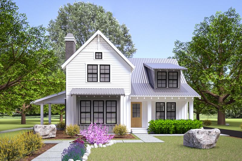 Home Plan - Farmhouse Exterior - Front Elevation Plan #1070-108