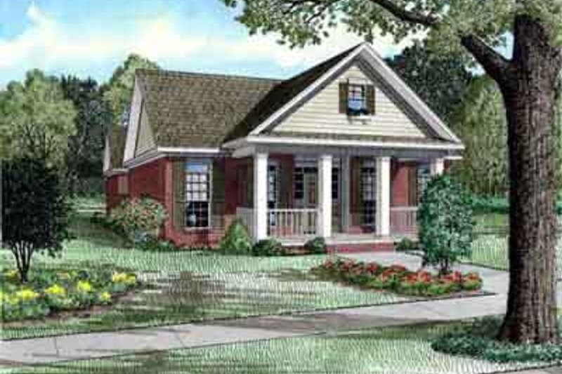 House Plan Design - Southern Exterior - Front Elevation Plan #17-2212
