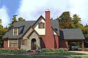 Cottage Exterior - Front Elevation Plan #63-396