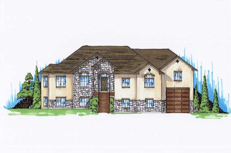 House Plan Design - Traditional Exterior - Front Elevation Plan #5-342