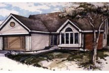Country Exterior - Front Elevation Plan #320-356