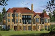 European Style House Plan - 4 Beds 4.5 Baths 6982 Sq/Ft Plan #20-2388 Exterior - Rear Elevation