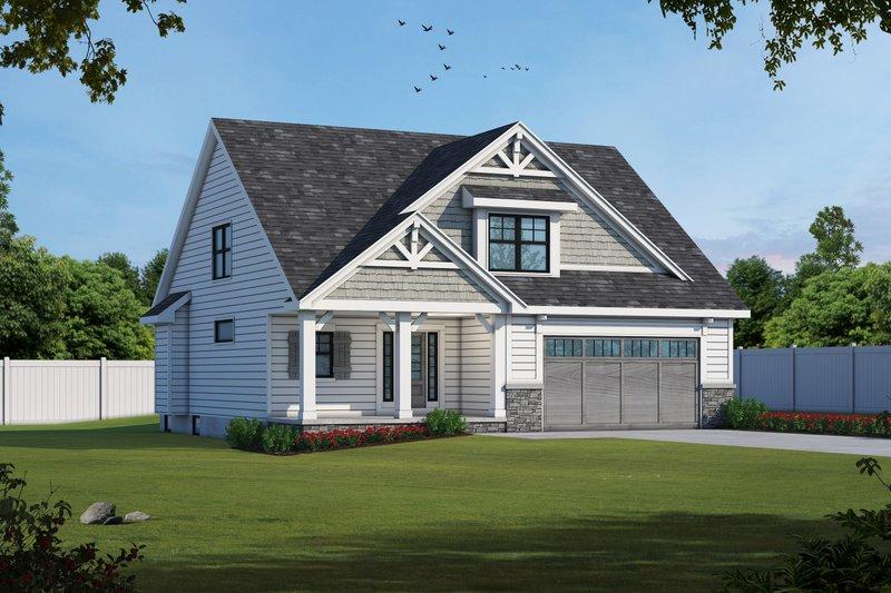 House Plan Design - Craftsman Exterior - Front Elevation Plan #20-2188