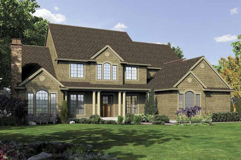 Home Plan - Traditional Exterior - Front Elevation Plan #48-876