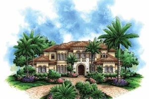 Dream House Plan - Mediterranean Exterior - Front Elevation Plan #1017-45